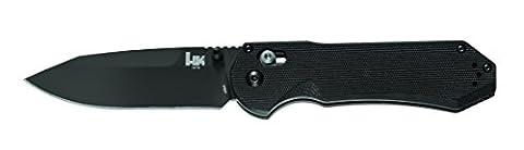 Benchmade HK Knives Axis Plain Edge Knife, Black