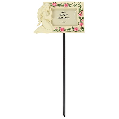 Ceramic Memorial Angel Grave Marker Photo (Marble Grave Markers)