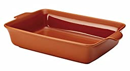 Anolon Vesta Stoneware 9-Inch x 13-Inch Rectangular Baker, Persimmon Orange