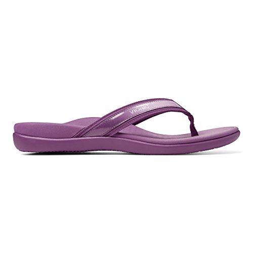 Vionic Vionic Islander Toe Post Sandal - Sandalias de Piel para mujer Dorado dorado Negro - negro