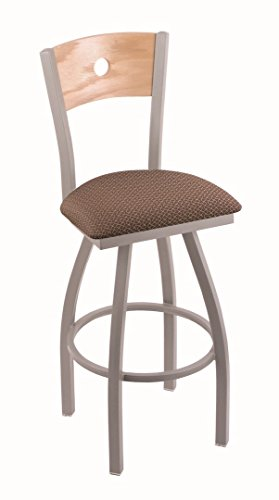 "UPC 071235637170, Holland Bar Stool Co. 830 Voltaire 36"" Bar Stool with Anodized Nickel Finish, Natural Oak Back and Swivel Seat, Axis Willow"