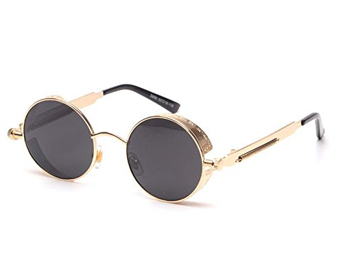 Arctic Star Vintage Steampunk sunglasses (Gold frame black - Toddlers Ray For Ban Sunglasses