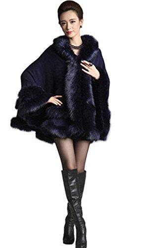 Fox Chale Manteau Faux PLAER Fur femmes Cape aux cape w0XxqpqCt