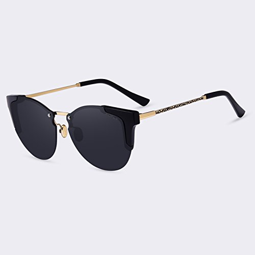 de Gafas femme de Gafas Moda C05gris lunettes gafas Gato Ojo degradado de de TIANLIANG04 sol de C01Gray mujeres de lujo sol espejo de gafas soleil q1HBBX8w