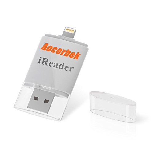 SD Card Reader for iPhone Aocerbek Thumb Drive Pen Drive Memory Stick External Storage Memory Expansion for iPhone iPad iPod iOS Windows Mac Computer to Lightning - Reader For Card 4s Iphone