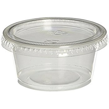 Jello Shot Souffle Cups and Lids, 1.5 Ounce, Translucent (250) by Mr Miracle