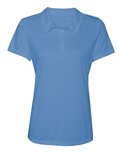 (Animal Den Women's Dry-Fit Golf Polo Shirts 3-Button Golf Polo's in 20 Colors XS-3XL Shirt LTBLUE-2XL)