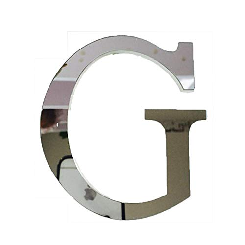 - A-Z with &, ❤, 26 Letters Decor with Reflecting Mirror, Creative Wall Stickers for Home Decor (G)