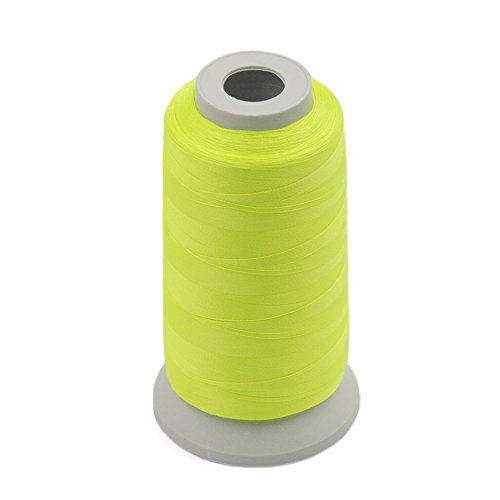 Fujiyuan 1 pcs Light Yellow 3000 Yards Glow In The Dark Machine Embroidery Thread Sew 150D Optical Polyester by fujiyuan