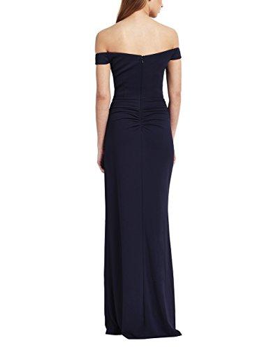 Lipsy Mujer Vestido Largo Escote Bardot Apliques Azul