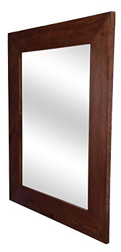 Log Wall Mirror (Shiplap Mirror 24 x 30 Vertical English Chestnut Stain Reclaimed Wood Mirror - Large Wall Mirror - Rustic Modern Home - Home Decor - Mirror - Housewares - Woodwork - Frame by Renewed Decor)