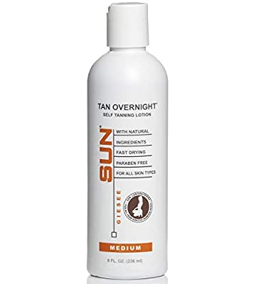 Sunless Tanning Lotion Organic Instant Tint 8oz - Medium Self Tanner - Self Tanner - Natural Sunless Tanning Lotion, Body and Face for Bronzing and Golden Tan - Sunless Bronzer (Packaging May Very)