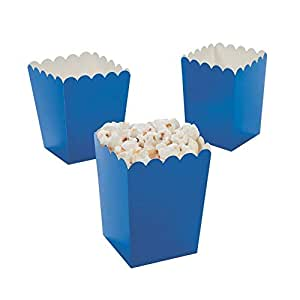 Amazon.com: 24 Mini Popcorn Boxes - Blue - Party Favor & Goody Bags & Paper Goody Bags & Boxes ...