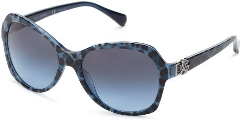 D&G Dolce & Gabbana 0DG4163P 26578F Butterfly Sunglasses,Lepopard/Blue,57 - And Dolce Gabbana Blue Sunglasses