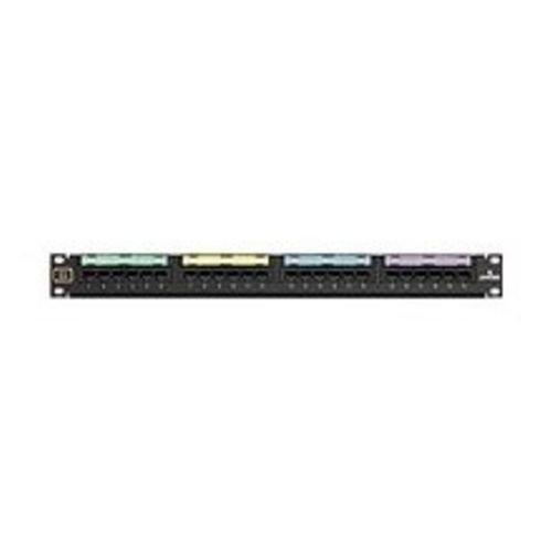 Leviton 49012-J24 24-Port Voice Grade Patch Panel 8P2C Jacks 1 25-Pair Connector