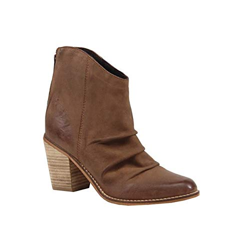 Diba True Women's Lost Girl Ankle Boot,Cognac Leather,US 8.5 M