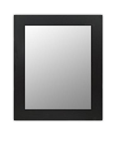 Wood Frame Mirror Modern Elegant Wall Mounted Mirror, Rectangle, Black Finish, 3 inch wide Flat Frame for Bathroom, Vanity, Living Room, Dining Room, Kitchen, Bedroom, Office By Raphael Rozen (16x20) - Hardwood Frames Rectangular Mirror