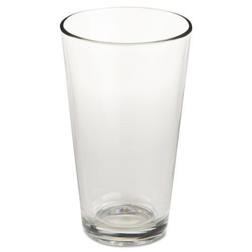 "LIB Restaurant Basics Glass Tumblers, Mixing Glass, 16oz, 5 7/8"" Tall, 24/Carton (1639HT)"