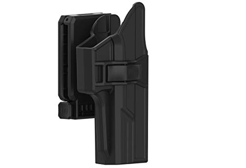 TEGE Glock 17 22 31 Holster(Gen 1-5), 360° Adjustable Tactical Outside Waistband Open Carry Belt Holster Fit G17 G22 G31 with Rapid Release, OWB Carry, Right-Handed