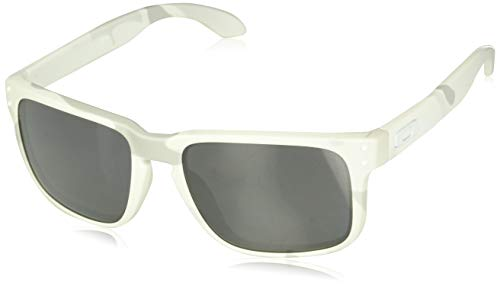 Oakley Men's Holbrook Non-Polarized Iridium Square Sunglasses, WHITE, 57.0 mm