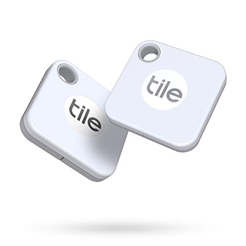 Tile Mate (2020) 2-Pack -Bluetooth Tracker, Keys Finder and Item Locator for Keys, Bags and More; Water Resistant with 1 Year Replaceable Battery