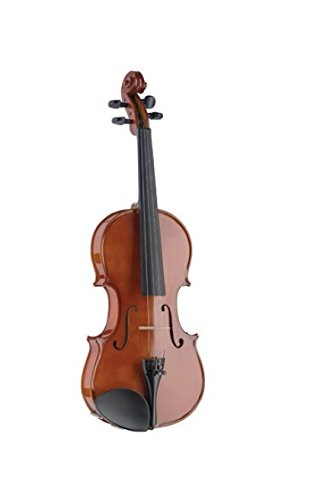 Stagg VN-1/2 L Solid Spruce Top 1/2-Size Violin with Maple Back and Sides - Natural by Stagg