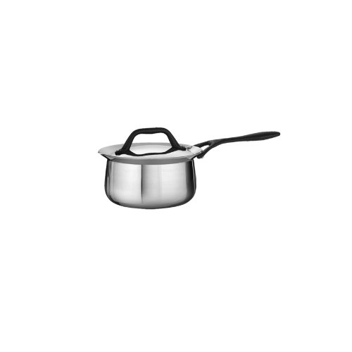 Tramontina Limited Editions Barazzoni 1.25 Quart Stainless Steel Covered Tri-Ply Clad Sauce Pan
