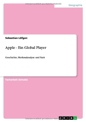 Read Online Apple - Ein Global Player (German Edition) PDF