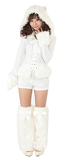 MITIAO Women'S Christmas Santa Costume Miss Kitty Costume -