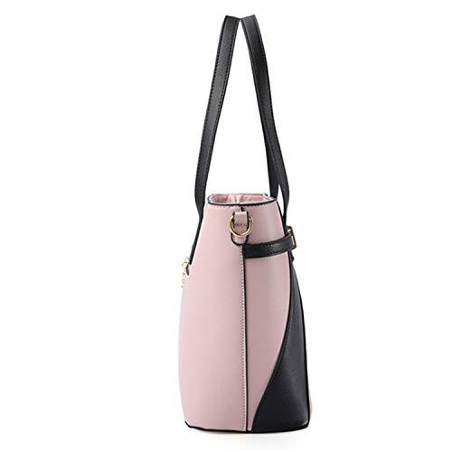 Bandoulière Sacs Pour Grande Femmes Capacité Mode Cuir Constructs En Pu Main À La Pink Sac Femme 8PxqXwYdvw