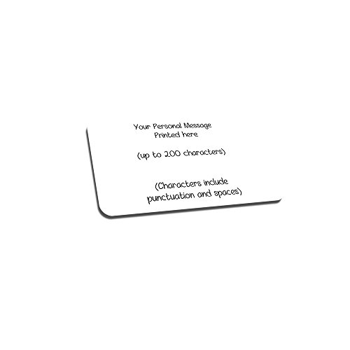 Personalized Love Note Insert Wallet Card Insert Aluminum Engraved Customized Message Text (Black)