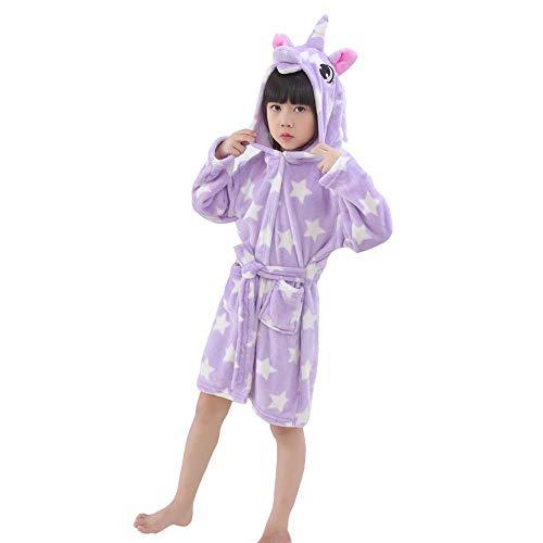 LANTOP Kids Soft Bathrobe Comfy Unicorn Gift Flannel Robe Unisex Sleepwear]()