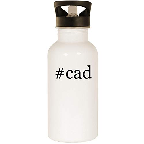 (#cad - Stainless Steel Hashtag 20oz Road Ready Water Bottle, White)