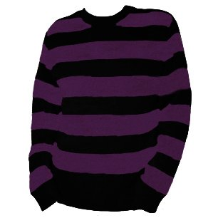 Mens Two Colour Striped Stripy Stripe Jumper Sweater (Medium ...