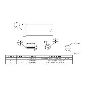 boss part msc01507 center hinge pin rt3 rtii v plow 07 newer automotive. Black Bedroom Furniture Sets. Home Design Ideas