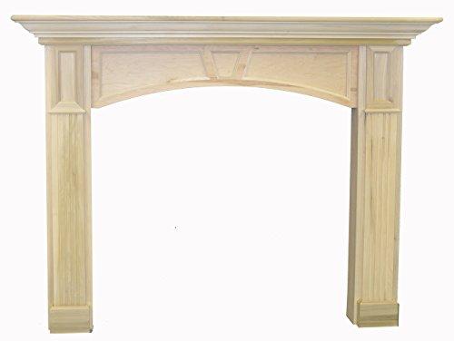 Poplar Mantel (Westminster 6' Paint Grade Unfinished Poplar Full Surround Fireplace Mantel)
