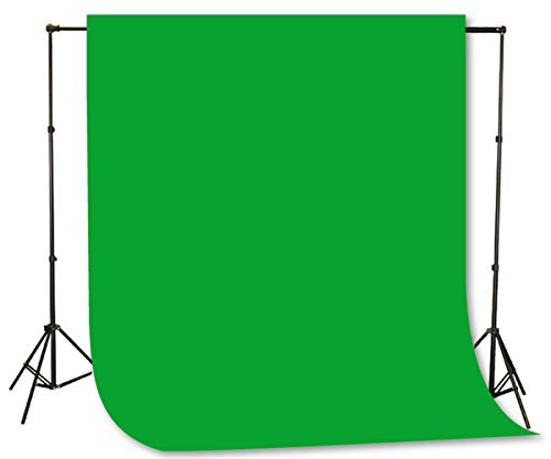 Fancierstudio Green Screen Background Stand Backdrop Support System Kit with 6ft x 9ft Chromakey Green Muslin Backdrop by Fancierstudio H804 6x9G