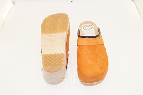 Handewitt Velours Offen Holzschuhladen Orange Holzclogs q7FFxdS
