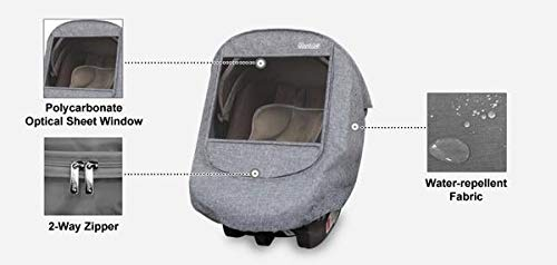 Manito Melange Infant Carseat Weather Shield (Black Grey) by Manito (Image #4)