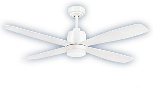 Ventilador de techo Led 18W Corvete Blanco/Blanco: Amazon.es: Hogar