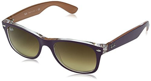 Ray-Ban NEW WAYFARER - TOP MATTE VIOLET ON ORAN Frame LIGHT BROWN GRADIENT DARK BROW Lenses 55mm - Bans Purple Wayfarer Ray