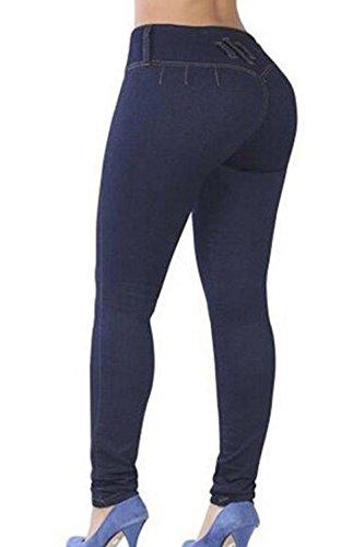 Navy Un Pantalon Pousser Pantalon Femmes Les Moulant De Les Solides Maigre vwvpqfZC