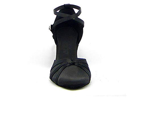 Zapatos de Baile con cm Mujeres para Latino negro el talón Latino de de Shangyi de en Baile de Zapatos Zapatos 6 Cuadrados una Zapatos Baile Baile Altura nY46Rxxf8