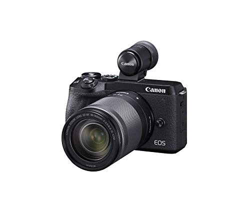 Canon EOS M6 Mark II Mirrorless Camera,(Black)+Ef-M 18-150mm F/3.5-6.3 is STM + Evf Kit