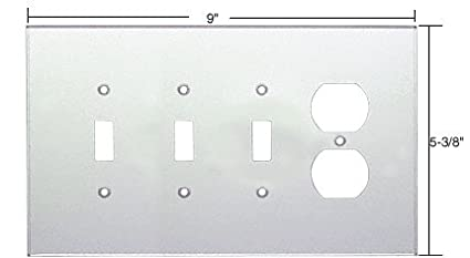 CRL Clear Duplex & Triple Toggle Acrylic Mirror Plate C.R. Laurence PMP420