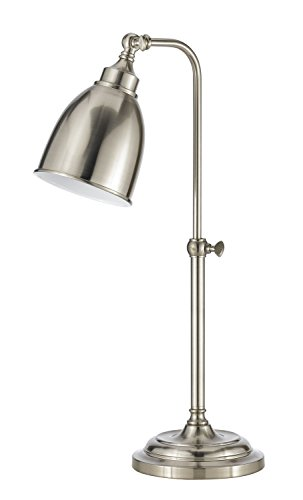 (Cal Lighting BO-2032TB-BS Traditional One Light Table Lamp from Pharmacy Collection in Pwt, Nckl, B/S, Slvr. Finish, 15.00 inches)