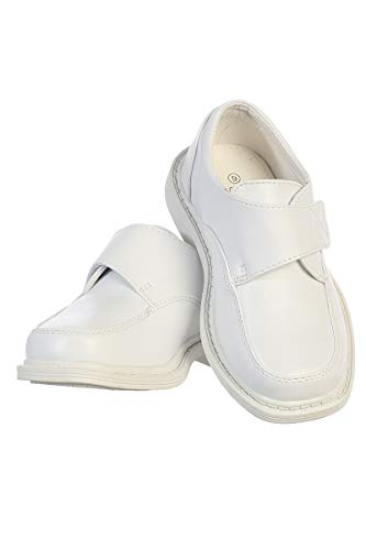 Lito Children's Wear Boys Matte Shoes (3, White) -