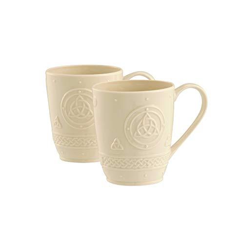 (Irish Belleek Pottery Celtic Design Mugs (set of 2))