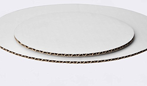 W PACKAGING WPCC10 Round Cake Pad, Non Grease Proof, C-Flute