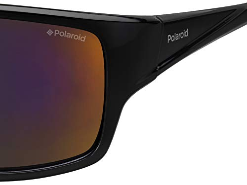 36693a11f6fd Polaroid Sunglasses Men s Pld7016s Polarized Rectangular Sunglasses BLACK  61 mm
